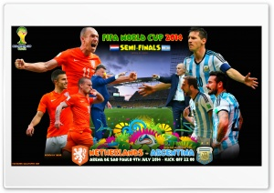 NETHERLANDS - ARGENTINA  SEMI-FINALS WORLD CUP 2014 HD Wide Wallpaper for Widescreen