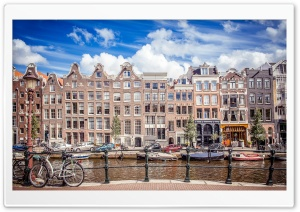 Netherlands, Amsterdam City Architecture HD Wide Wallpaper for Widescreen