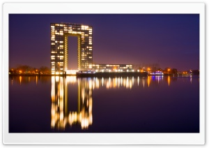 Netherlands City Night HD Wide Wallpaper for Widescreen