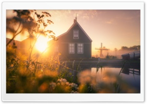 Netherlands, Zaanse Schans, Dutch Village Ultra HD Wallpaper for 4K UHD Widescreen desktop, tablet & smartphone