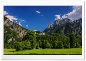 Neuschwanstein Bavaria Meadows Ultra HD Wallpaper for 4K UHD Widescreen desktop, tablet & smartphone