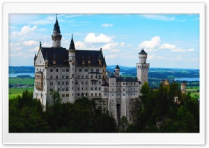 Neuschwanstein Castle As Seen From Marys Bridge HD Wide Wallpaper for Widescreen