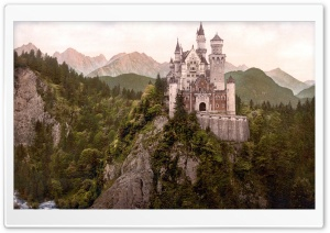 Neuschwanstein Castle, Bavaria, Germany HD Wide Wallpaper for Widescreen