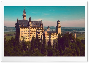 Neuschwanstein Castle From Marienbrucke HD Wide Wallpaper for Widescreen
