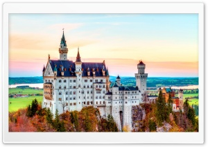 Neuschwanstein Castle, Germany, Autumn Ultra HD Wallpaper for 4K UHD Widescreen desktop, tablet & smartphone