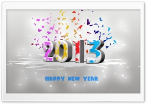 New Year 2013 HD Wide Wallpaper for 4K UHD Widescreen desktop & smartphone