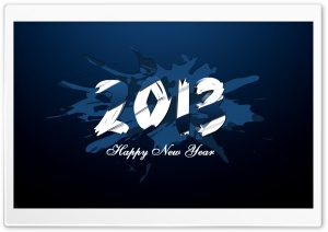 New Year 2013 HD Wide Wallpaper for Widescreen