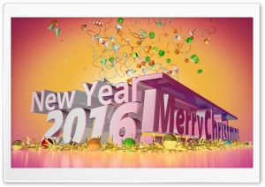New Year 2016 HD Wide Wallpaper for Widescreen
