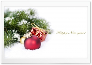 New Year Card HD Wide Wallpaper for Widescreen