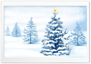 New Year Christmas Tree HD Wide Wallpaper for Widescreen