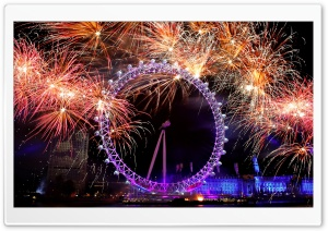 New Year Eve In London HD Wide Wallpaper for 4K UHD Widescreen desktop & smartphone