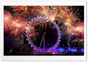 New Year Eve In London Ultra HD Wallpaper for 4K UHD Widescreen desktop, tablet & smartphone