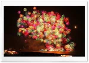 New Year Fireworks 2013 HD Wide Wallpaper for Widescreen