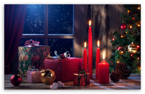 New Year Gifts, Christmas Tree, Red Candles, Cones, Balls ❤ 4K UHD Wallpaper for Wide 16:10 5:3 Widescreen WHXGA WQXGA WUXGA WXGA WGA ; 4K UHD 16:9 Ultra High Definition 2160p 1440p 1080p 900p 720p ; Standard 4:3 5:4 3:2 Fullscreen UXGA XGA SVGA QSXGA SXGA DVGA HVGA HQVGA ( Apple PowerBook G4 iPhone 4 3G 3GS iPod Touch ) ; Smartphone 3:2 DVGA HVGA HQVGA ( Apple PowerBook G4 iPhone 4 3G 3GS iPod Touch ) ; Tablet 1:1 ; iPad 1/2/Mini ; Mobile 4:3 5:3 3:2 16:9 5:4 - UXGA XGA SVGA WGA DVGA HVGA HQVGA ( Apple PowerBook G4 iPhone 4 3G 3GS iPod Touch ) 2160p 1440p 1080p 900p 720p QSXGA SXGA ;