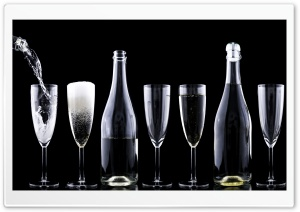 New Years Eve 2016 Champagne HD Wide Wallpaper for Widescreen
