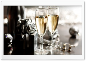 New Year's Eve Champagne HD Wide Wallpaper for 4K UHD Widescreen desktop & smartphone