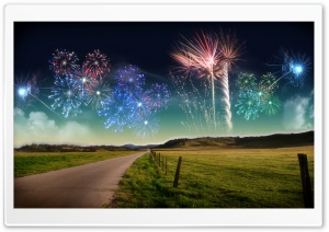 New Years New Zeland Fireworks Ultra HD Wallpaper for 4K UHD Widescreen desktop, tablet & smartphone