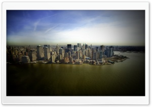 New York Aerial View HD Wide Wallpaper for 4K UHD Widescreen desktop & smartphone