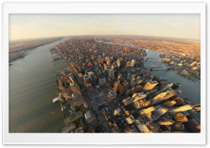 New York Aerial View HD Wide Wallpaper for Widescreen