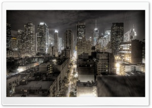 New York At Night HD Wide Wallpaper for Widescreen