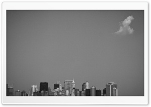 New York Black and White HD Wide Wallpaper for Widescreen