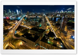 New York By Night HD Wide Wallpaper for Widescreen