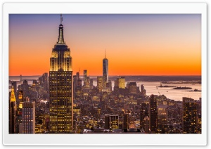 New York City Aerial View HD Wide Wallpaper for 4K UHD Widescreen desktop & smartphone