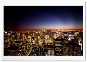 New York City At Night HD Wide Wallpaper for Widescreen