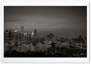 New York City Black And White HD Wide Wallpaper for Widescreen