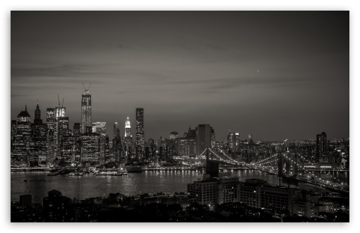 Download new york city black and white hd wallpaper