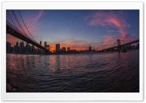 New York City Bridges HD Wide Wallpaper for Widescreen