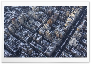 New York City Buildings Aerial View HD Wide Wallpaper for 4K UHD Widescreen desktop & smartphone