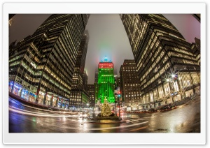 New York City Christmas Time HD Wide Wallpaper for Widescreen
