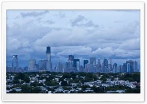 New York City Clouds HD Wide Wallpaper for Widescreen