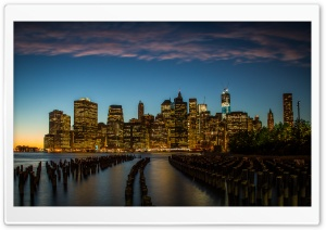 New York City Downtown HD Wide Wallpaper for 4K UHD Widescreen desktop & smartphone