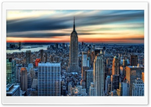 New York City HDR HD Wide Wallpaper for Widescreen