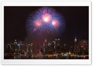 New York City New Year HD Wide Wallpaper for 4K UHD Widescreen desktop & smartphone