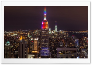 New York City Night Lights HD Wide Wallpaper for Widescreen