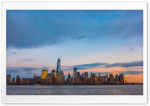 New York City Skyline HD Wide Wallpaper for 4K UHD Widescreen desktop & smartphone