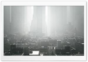 New York City Smog HD Wide Wallpaper for Widescreen
