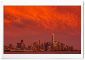 New York City Storm HD Wide Wallpaper for Widescreen