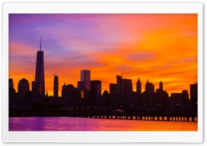 New York City sunrise HD Wide Wallpaper for 4K UHD Widescreen desktop & smartphone