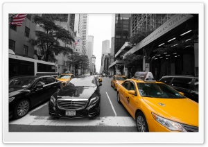 New York City Taxi HD Wide Wallpaper for 4K UHD Widescreen desktop & smartphone