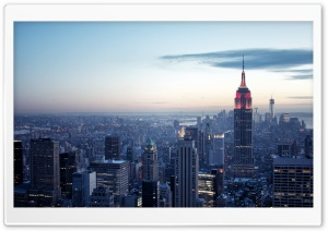 New York City Winter sunset HD Wide Wallpaper for Widescreen