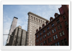 New York Flatiron Building HD Wide Wallpaper for 4K UHD Widescreen desktop & smartphone