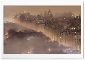 New York Fog HD Wide Wallpaper for Widescreen