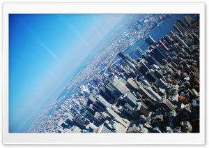 New York From The Plane HD Wide Wallpaper for Widescreen