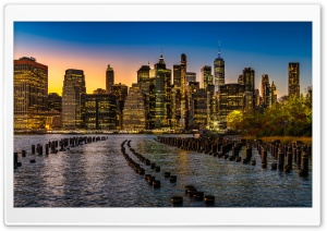 New York Lights HD Wide Wallpaper for Widescreen