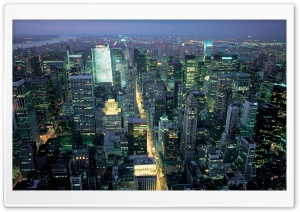 New York Night Life HD Wide Wallpaper for Widescreen