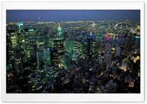 New York Night Panorama HD Wide Wallpaper for Widescreen